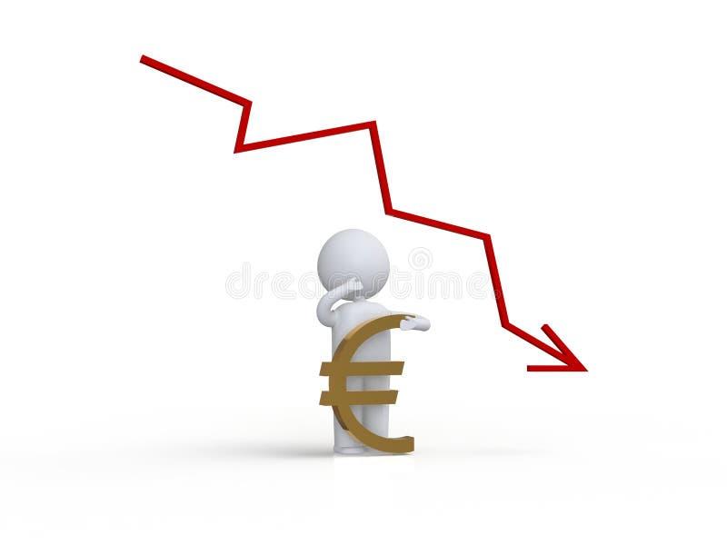 gráfico negativo humano 3d stock de ilustración