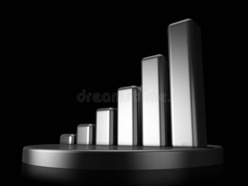 Gráfico negro exclusivo ilustración del vector