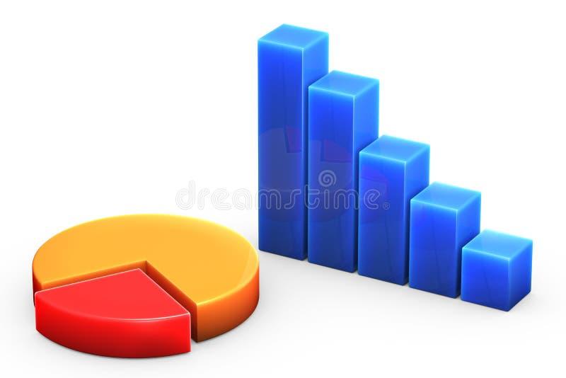 Gráfico no branco ilustração stock