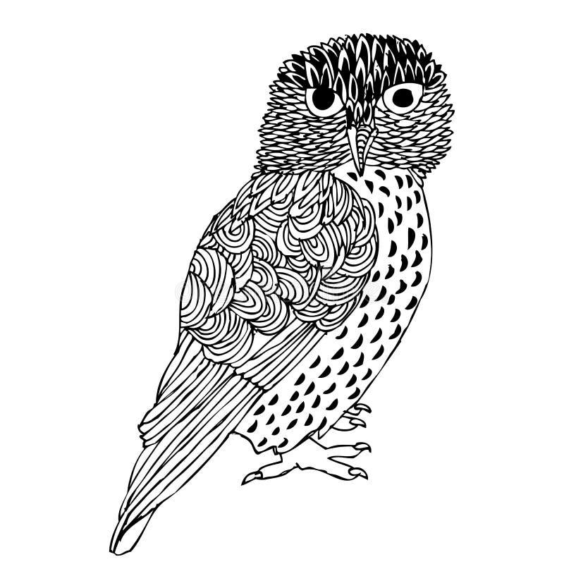 Gráfico original de la mano del buho libre illustration