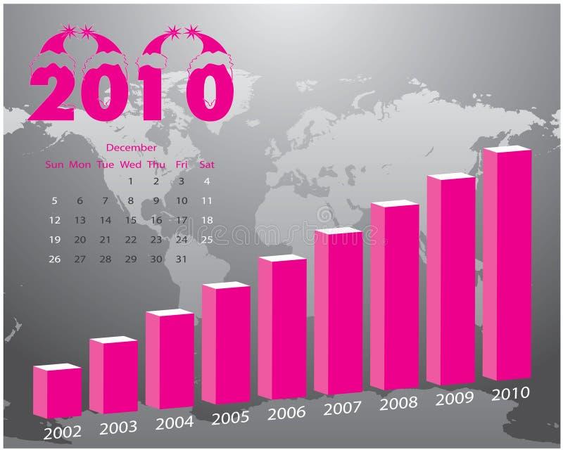 Gráfico para o negócio ilustração royalty free