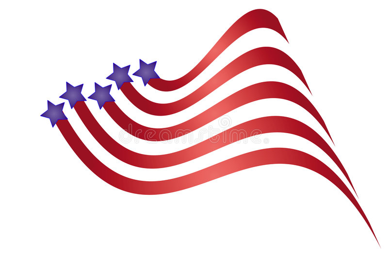 Gráfico patriótico imagenes de archivo