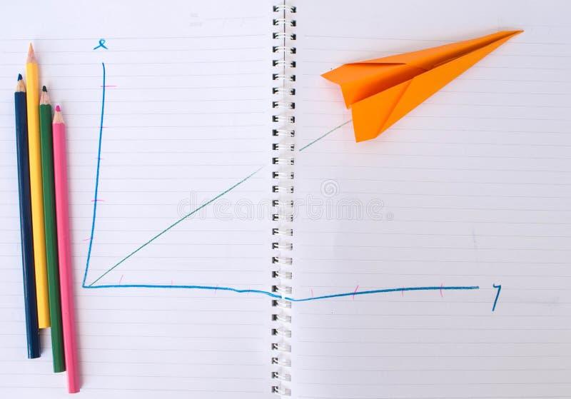 Gráfico plano de papel para arriba foto de archivo
