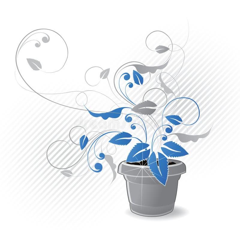 Gráfico Potted de la planta libre illustration