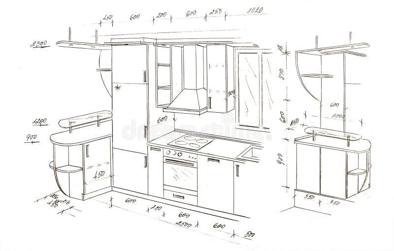 Gráfico a pulso moderno del diseño interior. foto de archivo libre de regalías