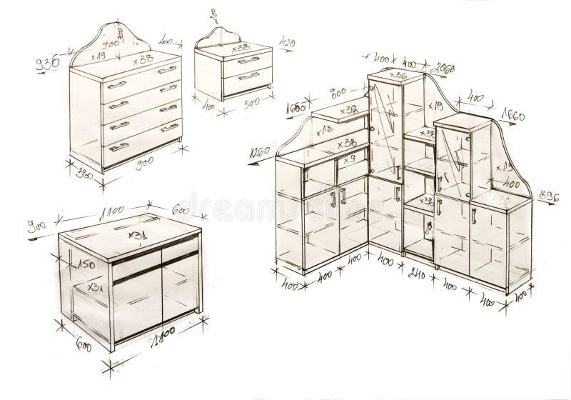 Gráfico a pulso moderno del diseño interior. imágenes de archivo libres de regalías