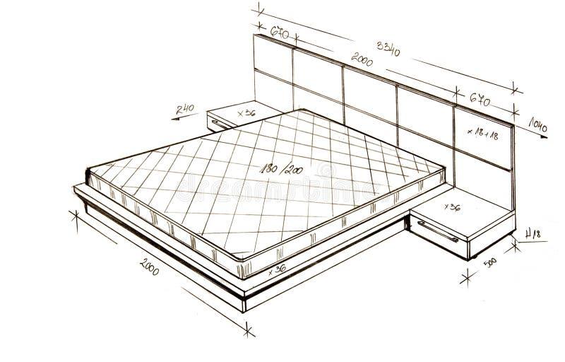 Gráfico a pulso moderno del diseño interior. foto de archivo
