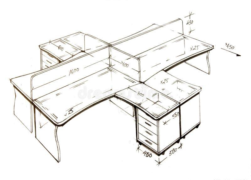 Gráfico a pulso moderno del diseño interior. imagen de archivo libre de regalías