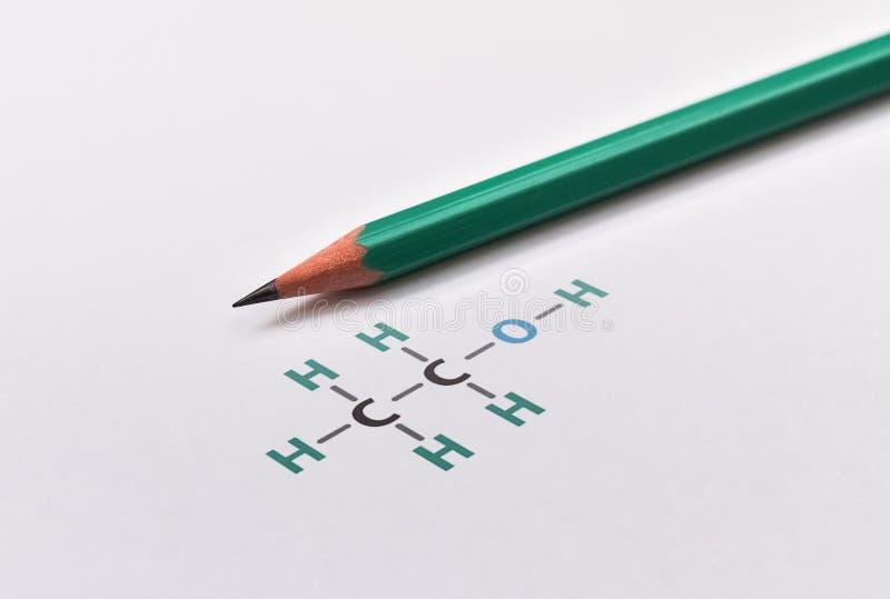 Gráfico químico do álcool imagem de stock royalty free
