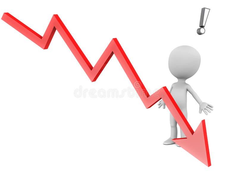 Gráfico que cae stock de ilustración