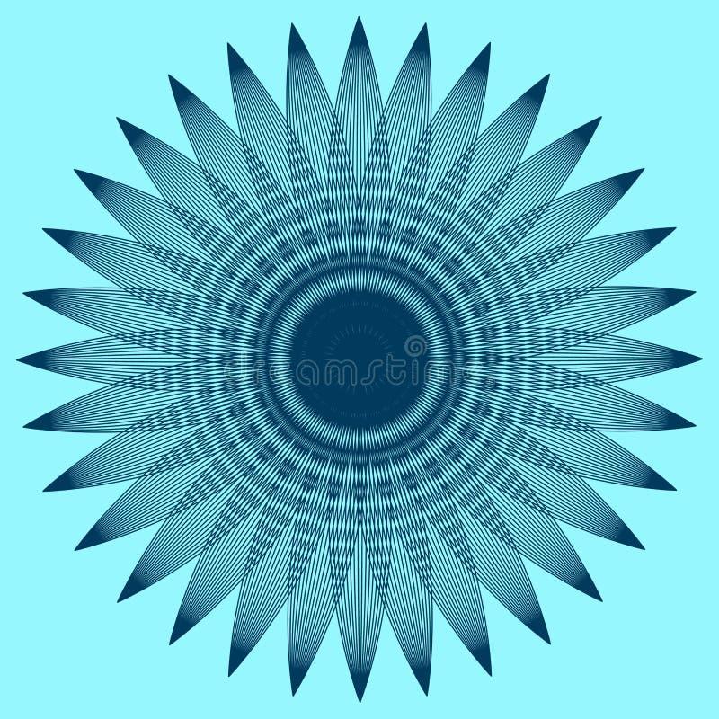 Gráfico redondo com pétalas ilustração stock
