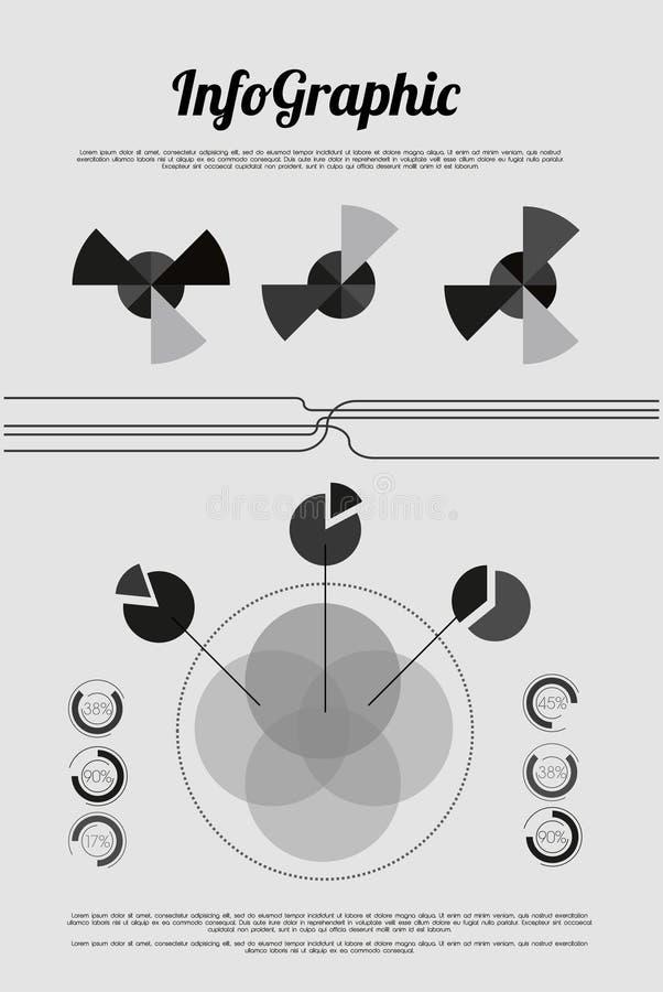 Gráfico retro da informação com elementos ilustração stock