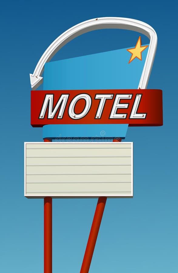 Gráfico retro de la muestra del motel stock de ilustración