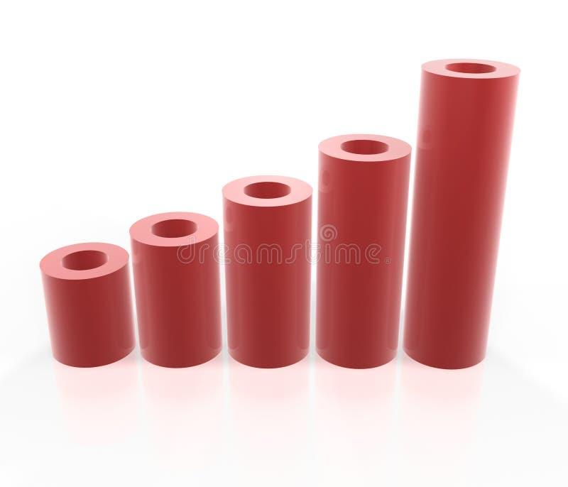 Gráfico rojo del tubo fotografía de archivo