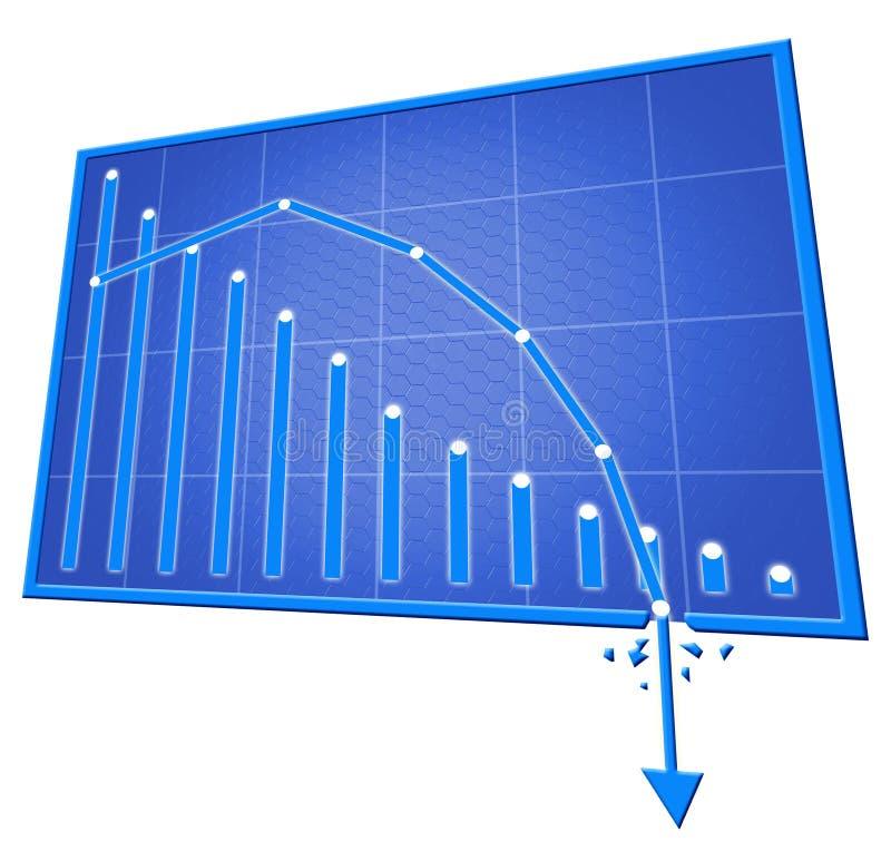 gráfico ruim isolado sobre com fundo ilustração stock