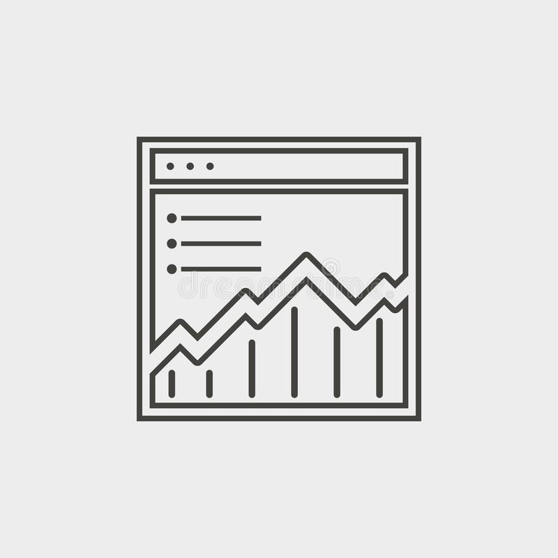 Gráfico, sitio, red, esquema, icono Icono del vector del desarrollo web Elemento del símbolo simple para las páginas web, diseño  libre illustration