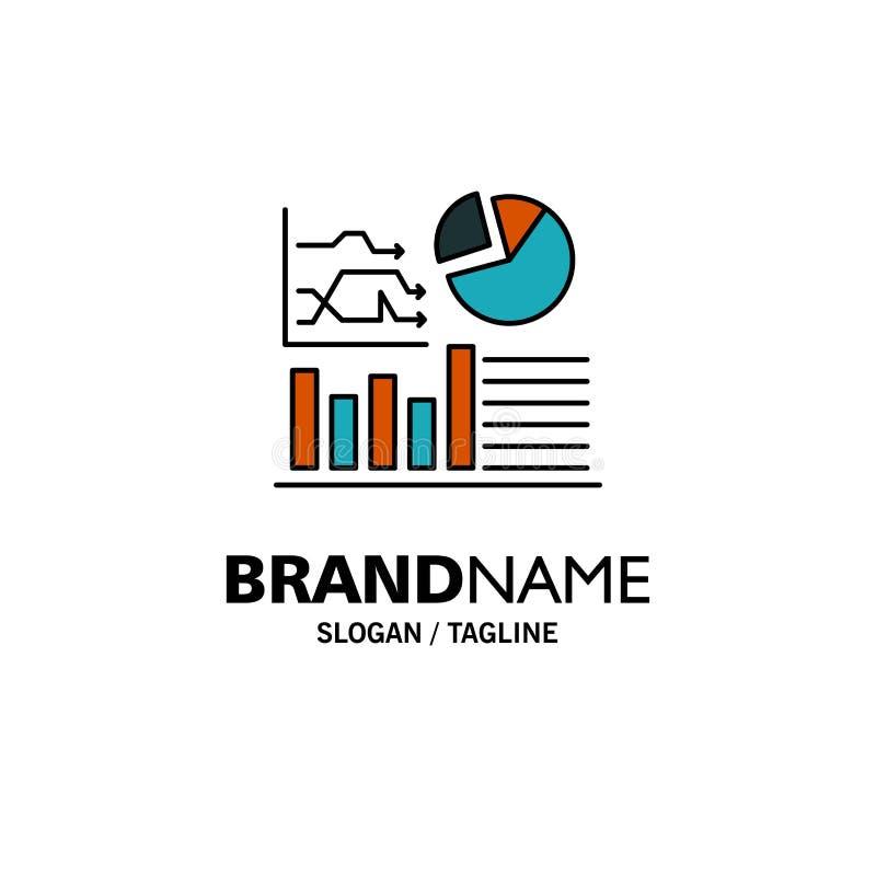 Gráfico, sucesso, fluxograma, negócio Logo Template do negócio cor lisa ilustração royalty free
