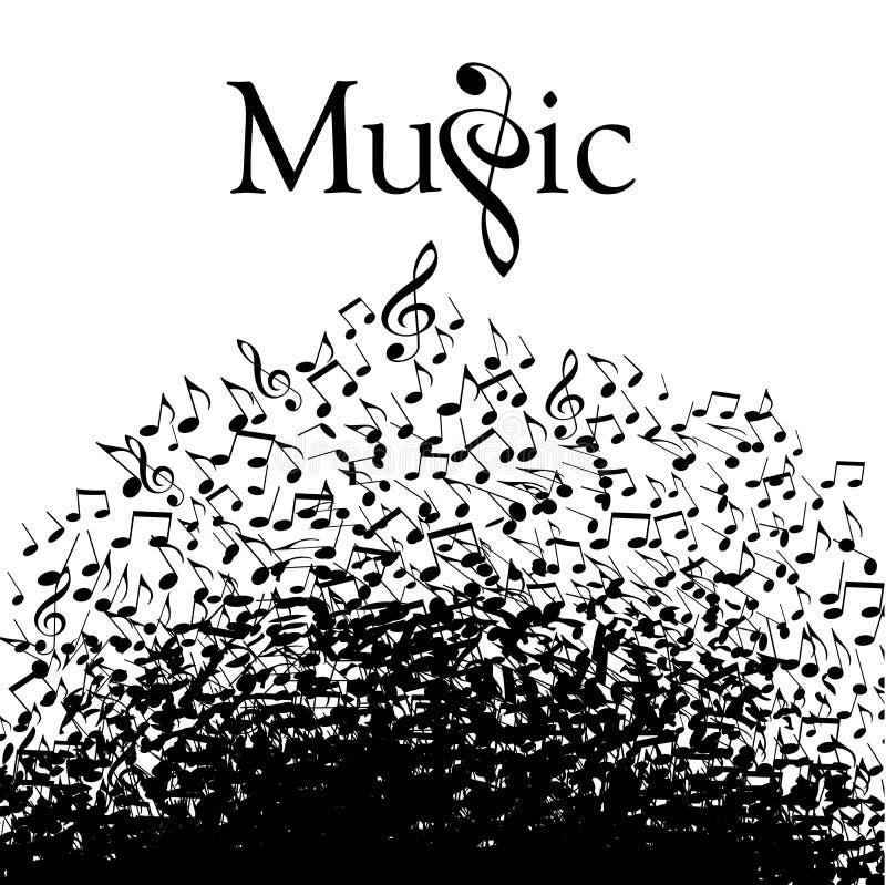 Gráfico tipográfico juguetón de la música ilustración del vector