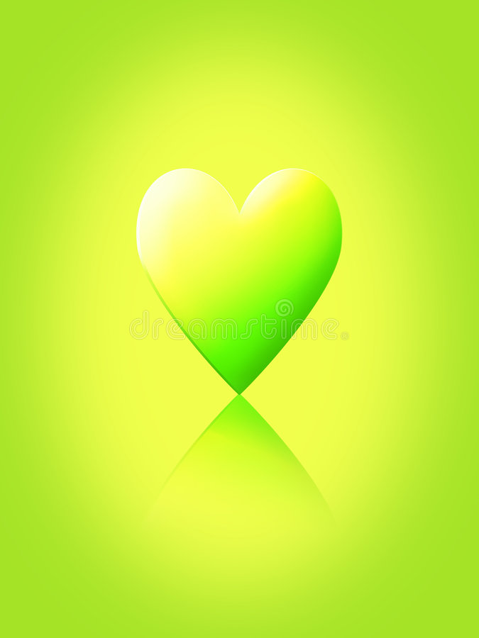 Gráfico verde abstrato do coração ilustração stock