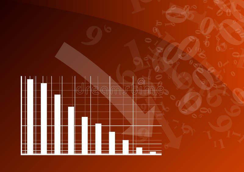 Gráfico vermelho ilustração stock