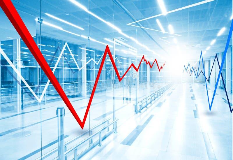 Gráfico y carta de barra del mercado de acción ilustración del vector