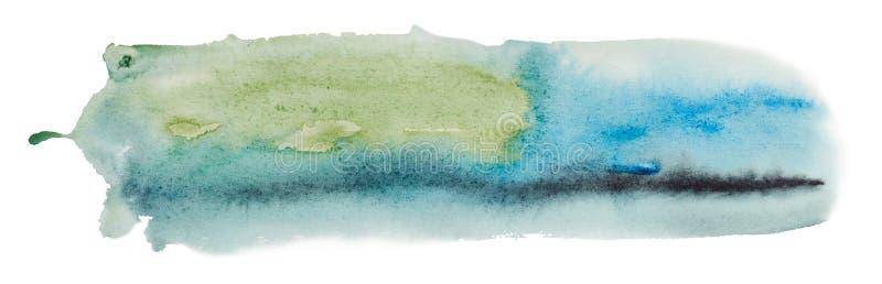 Gráficos abstractos de los ejemplos de la acuarela stock de ilustración