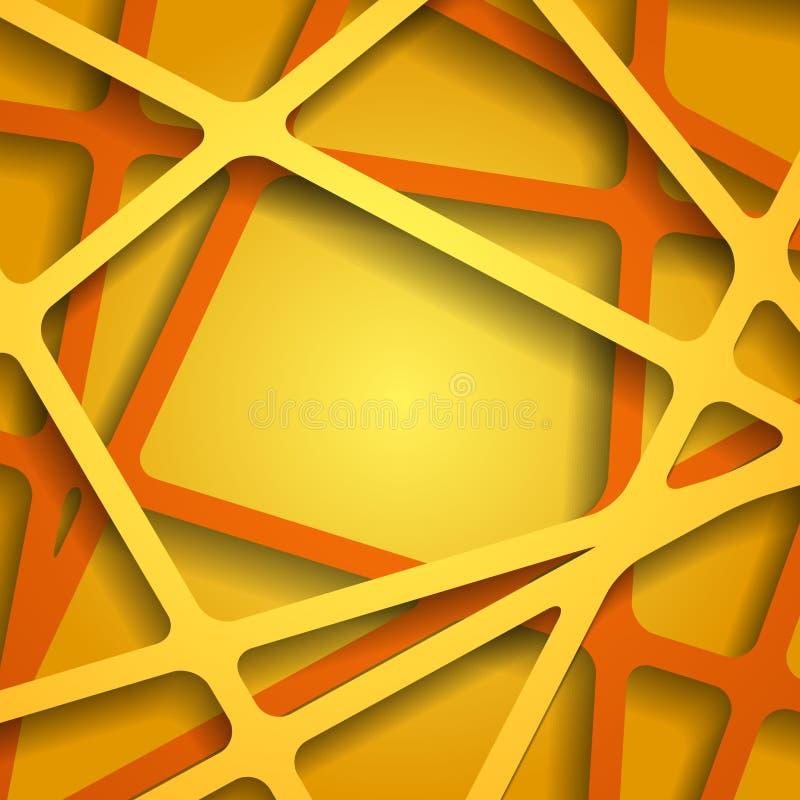 Gráficos abstratos do papel 3D Ilustração do vetor ilustração stock