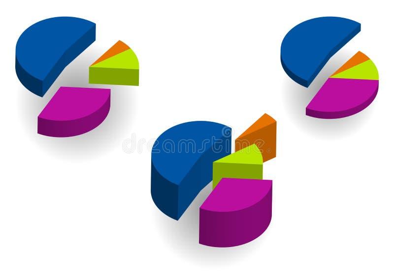 Gráficos circulares ilustración del vector