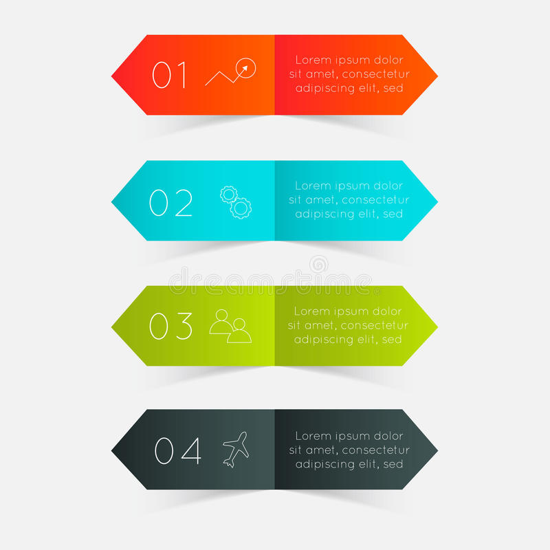 Gráficos coloridos de la información del vector libre illustration