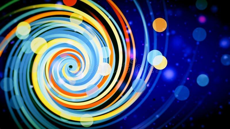 Gráficos com espiral colorida ilustração stock