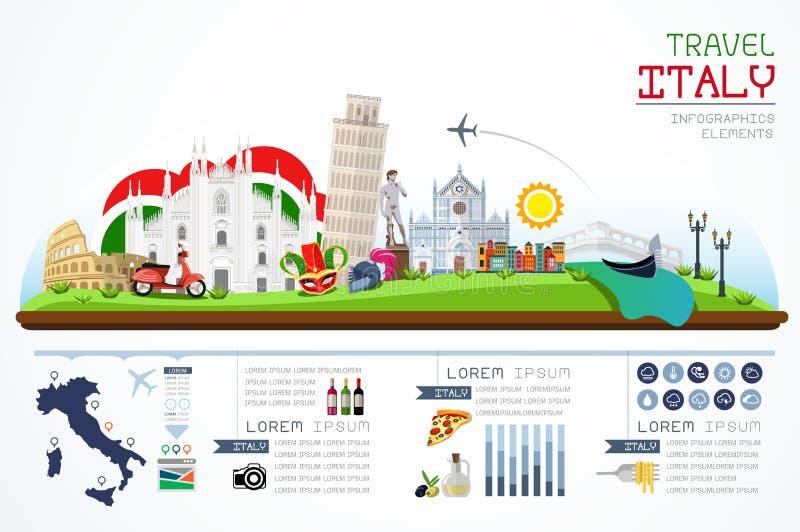 Gráficos curso da informação e marco Italia ilustração stock