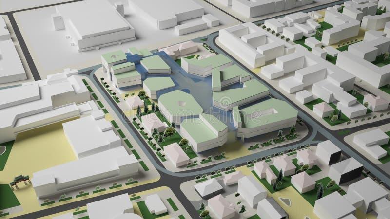 gráficos 3D del ambiente urbano cuarto stock de ilustración