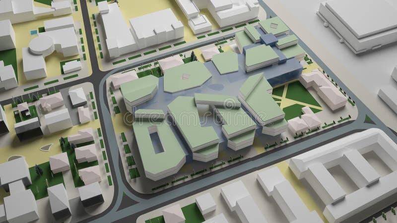gráficos 3D do ambiente urbano quarto fotos de stock