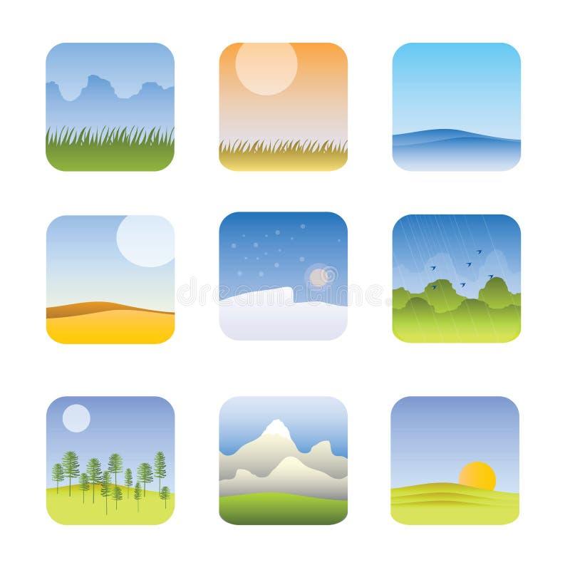 Gráficos da informação das zonas de clima do mundo ilustração royalty free