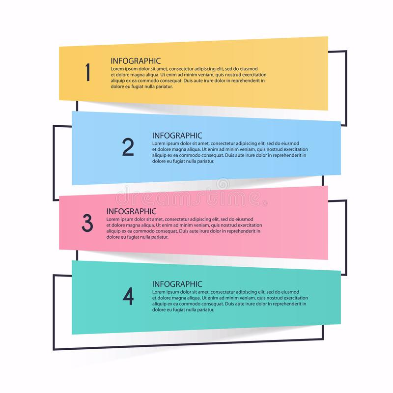 Gráficos da informação de vetor para suas apresentações do negócio Pode ser o uso ilustração stock