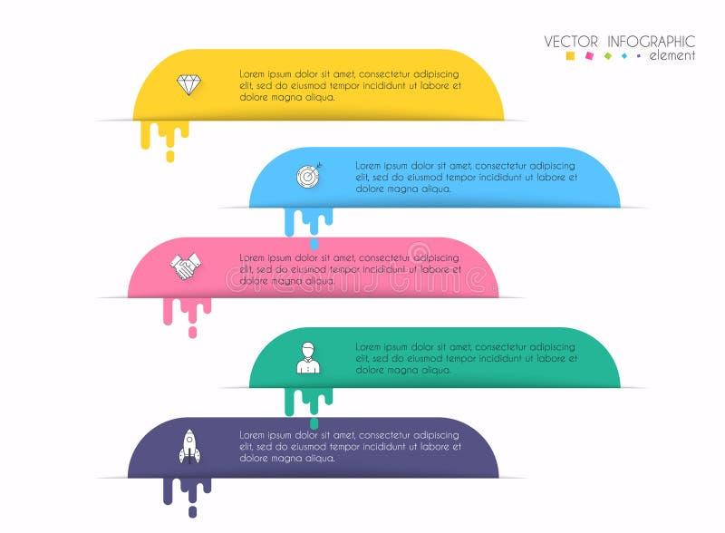 Gráficos da informação de vetor para suas apresentações do negócio Podem ser usadas para a disposição do Web site, numerado as ba ilustração royalty free