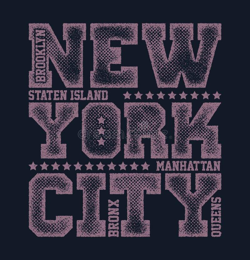 Gráficos da tipografia de New York City ilustração royalty free