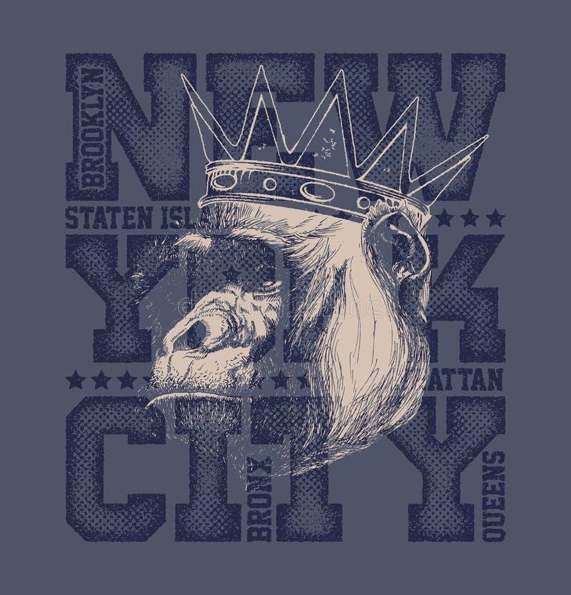Gráficos da tipografia de New York City ilustração do vetor
