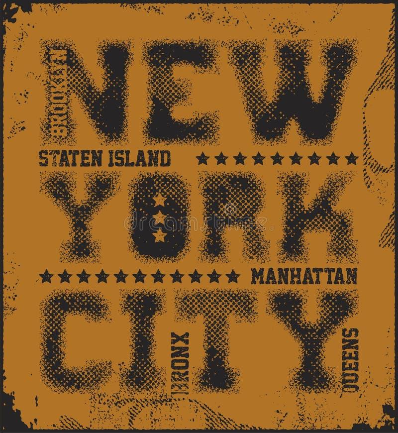 Gráficos da tipografia de New York City ilustração stock