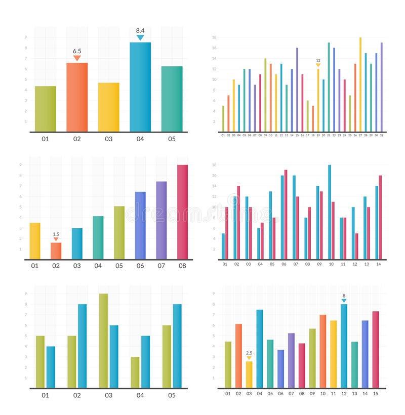 Gráficos de barra ilustração stock