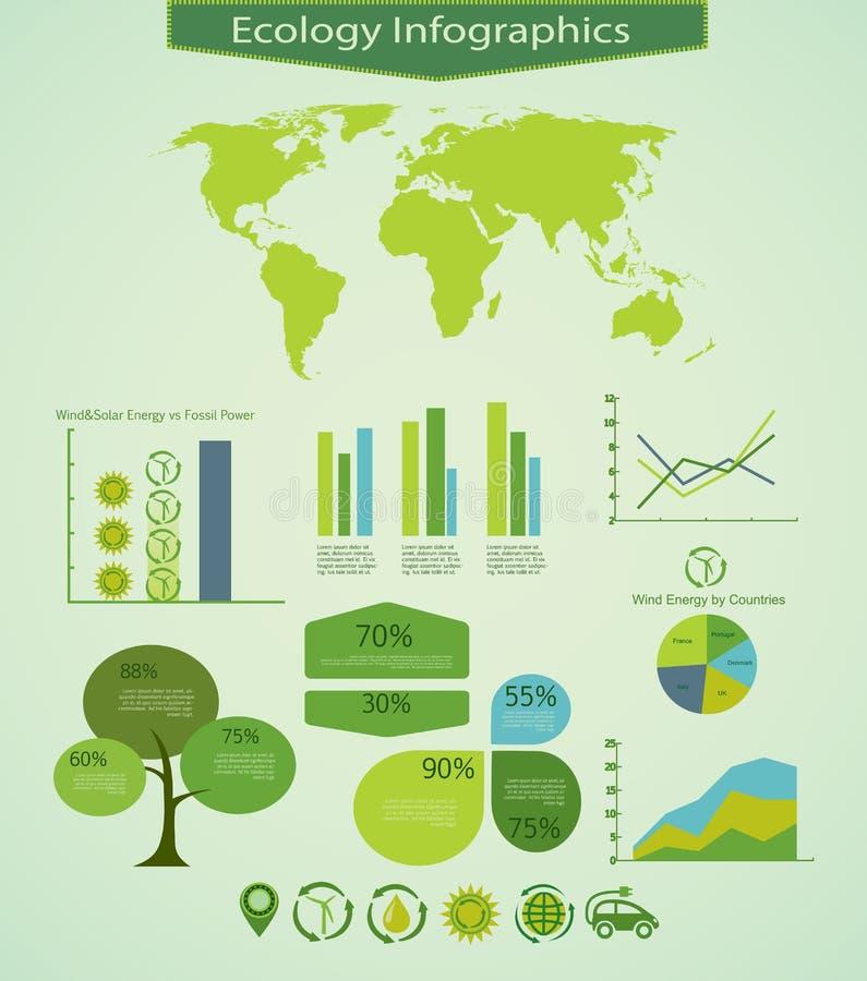 Gráficos de Ecology&Energy Info ilustración del vector