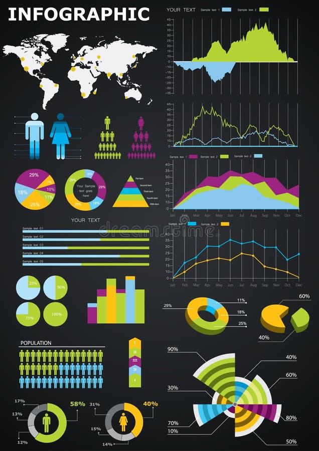 Gráficos de Infographic libre illustration