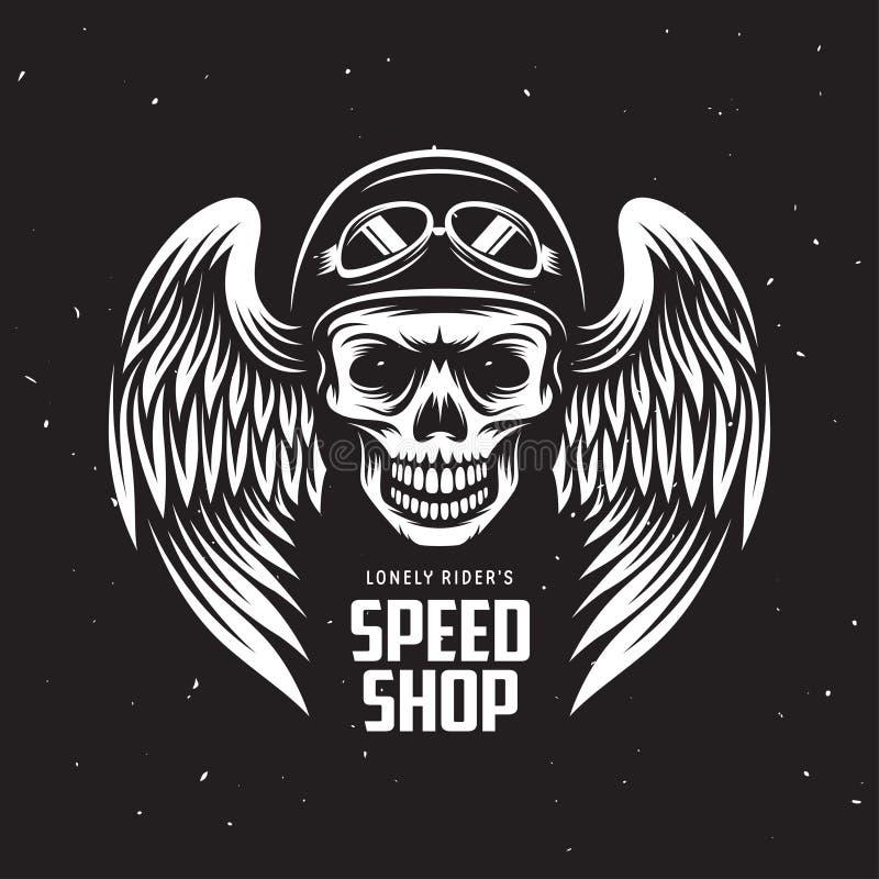 Gráficos de la camiseta de la motocicleta del vintage Ilustración del vector ilustración del vector