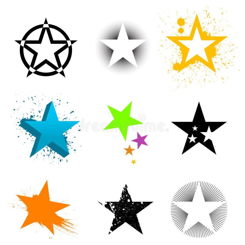 Gráficos de la estrella ilustración del vector