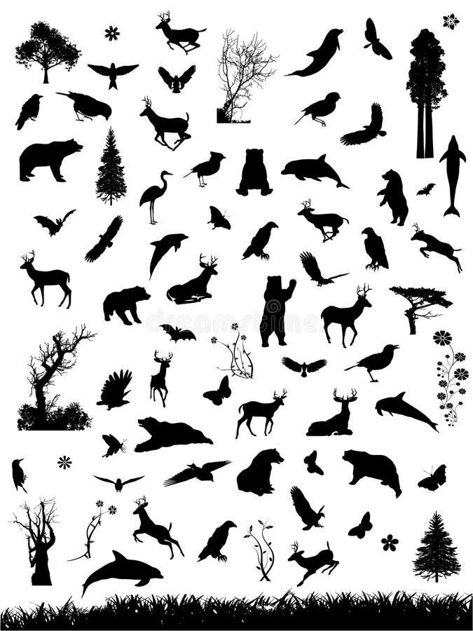 Gráficos de la naturaleza stock de ilustración