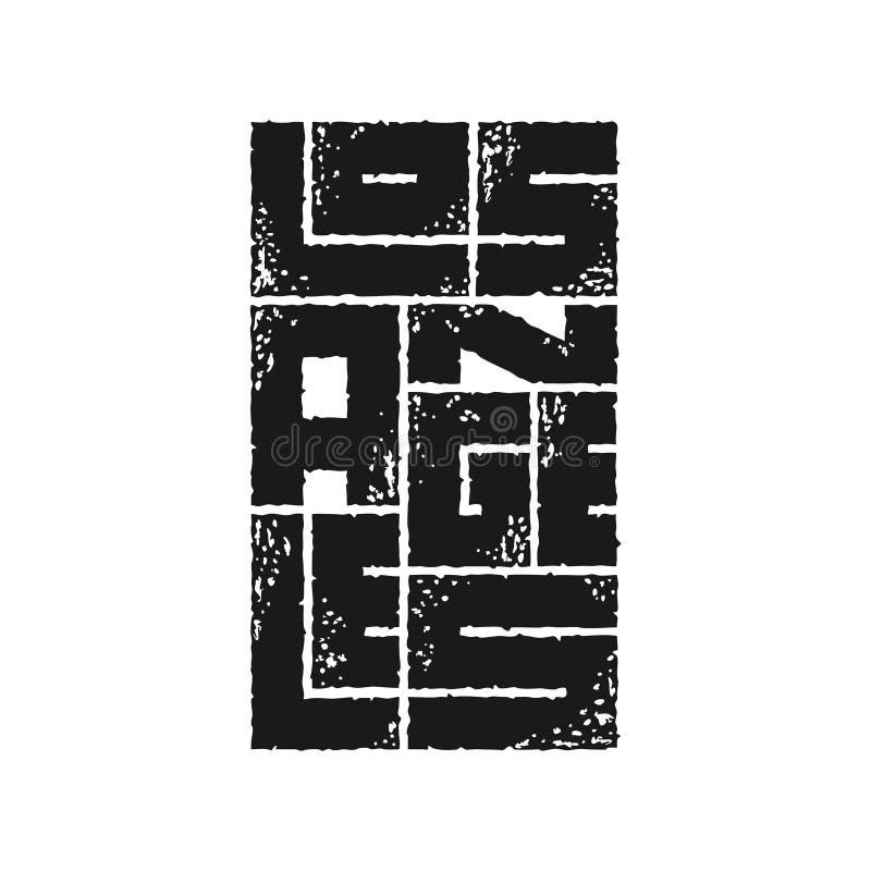 Gráficos de la tipografía de Los Ángeles Diseño de la moda de la camiseta libre illustration