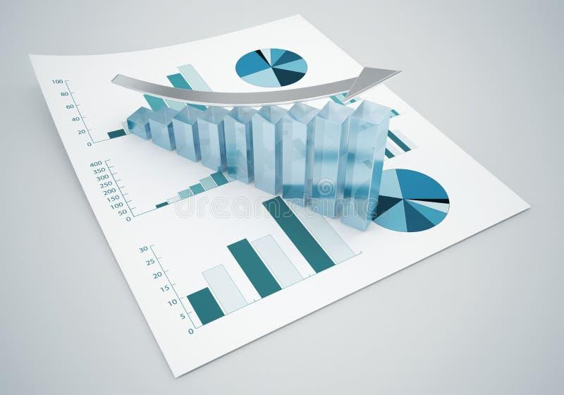 Gráficos de las finanzas del negocio ilustración del vector