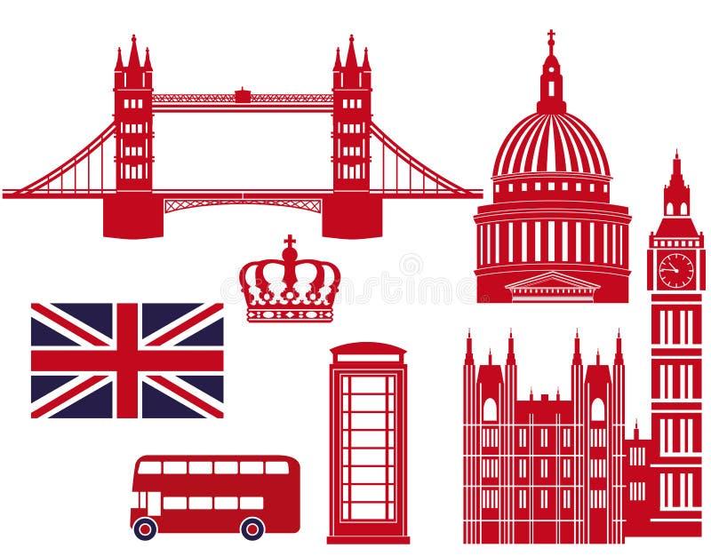 Gráficos de las señales de Londres stock de ilustración