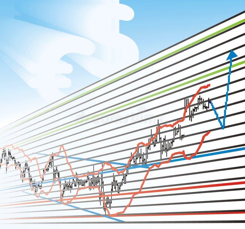 Gráficos de lucro do negócio ilustração do vetor