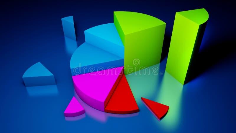 Gráficos de negócio ilustração stock